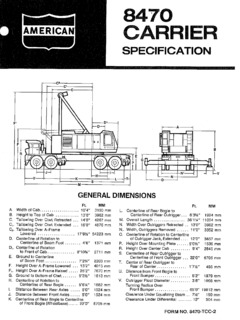American 8470 Specifications CraneMarket