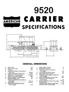 American 9520 Specifications CraneMarket
