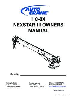 Auto Crane Specifications CraneMarket