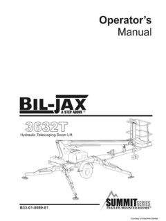 Biljax Specifications CraneMarket