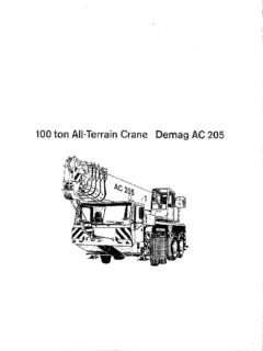 Demag AC 205 Specifications CraneMarket