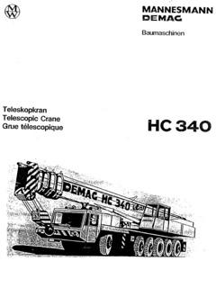 Demag HC 340 Specifications CraneMarket