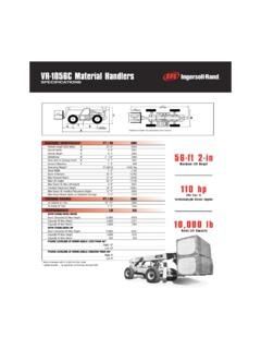 Telehandlers Ingersoll Rand VR-1056C Specifications