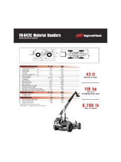 Telehandlers Ingersoll Rand VR-642C Specifications CraneMarket