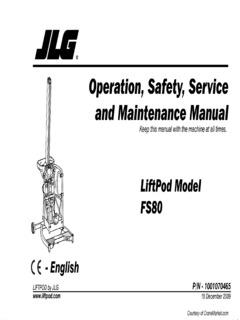 JLG Specifications CraneMarket