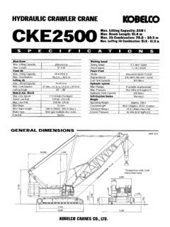 Crawler Cranes Lattice Boom Kobelco CKE2500 Series