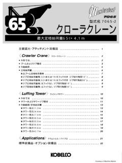 Kobelco Specifications CraneMarket