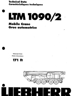 Liebherr LTM 1090/2 Specifications CraneMarket