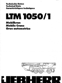 Liebherr LTM 1050/1 Specifications CraneMarket