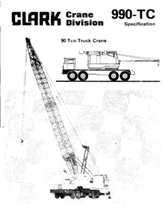 Clark Lima 990-TC Specifications CraneMarket