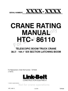 Link-Belt HTC-86110 Specifications CraneMarket