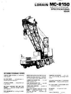 Lorain MC 8150 Specifications CraneMarket