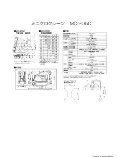 Maeda MC205C Specifications CraneMarket