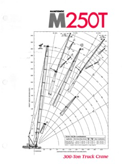 Manitowoc M250 Series Specifications CraneMarket