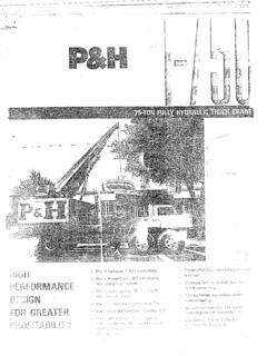 Truck Cranes P&H Specifications CraneMarket