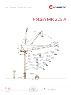 Tower Cranes Potain MR 225 A Specifications CraneMarket