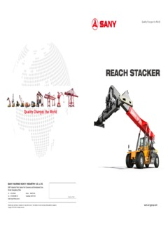 Reach Stackers Sany SRSC45H4 Specifications CraneMarket
