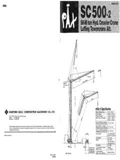 Crawler Cranes Lattice Boom Sumitomo SC 500-2