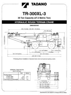 Tadano TR-300 Series Specifications CraneMarket