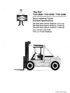Taylor THD-300M Specifications CraneMarket