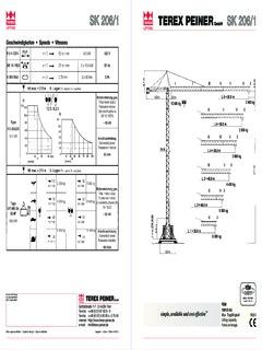 Tower Cranes Terex Peiner Specifications CraneMarket