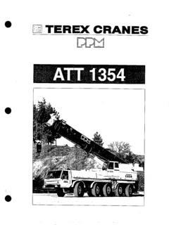 Terex PPM ATT 1354 Specifications CraneMarket