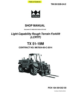 Telehandlers Terex Specifications CraneMarket