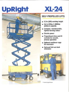 upright x20n scissor lift wiring diagram amana electric dryer lifts specifications cranemarket xl 24c