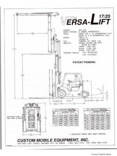 Versa-Lift Specifications CraneMarket