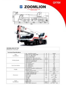 Zoomlion qy  specifications also telescopic boom cranemarket rh