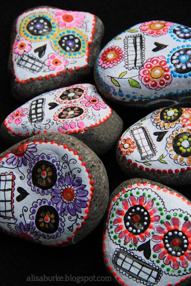 Sugar Skull Painted Rocks : sugar, skull, painted, rocks, Crafts, Create, Whimsy