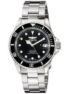 Orologio automatico Invicta Pro Diver 200m WR quadrante nero in acciaio inox 17044 maschile it