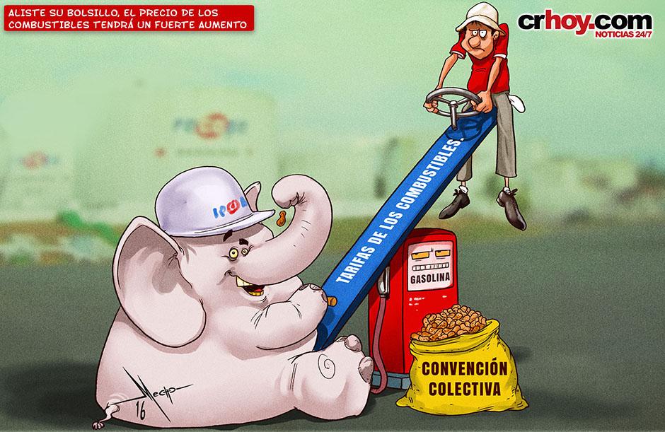 Resultado de imagen para recope precio combustible caricatura