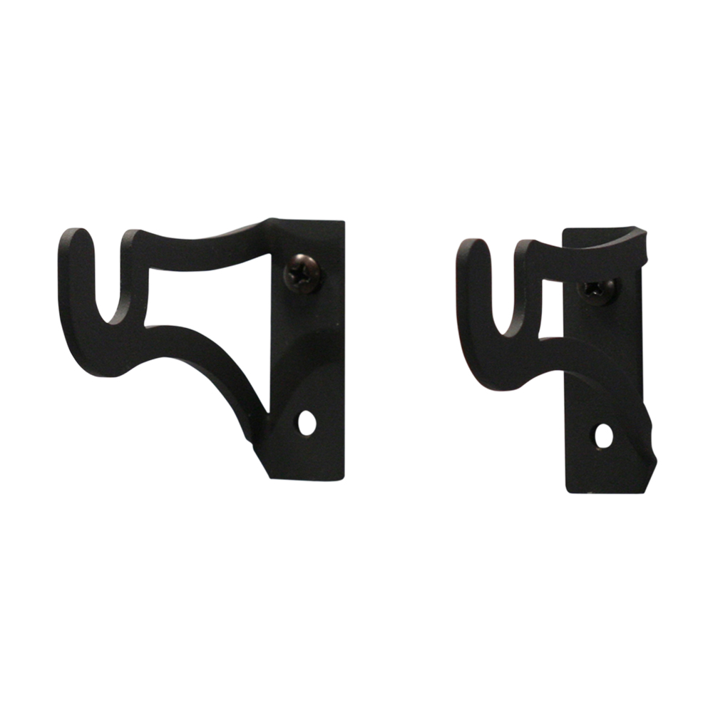 Village Wrought Iron Curtain Brackets for 12 Inch Rods