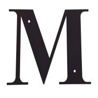 Village Wrought Iron: Letter M Large