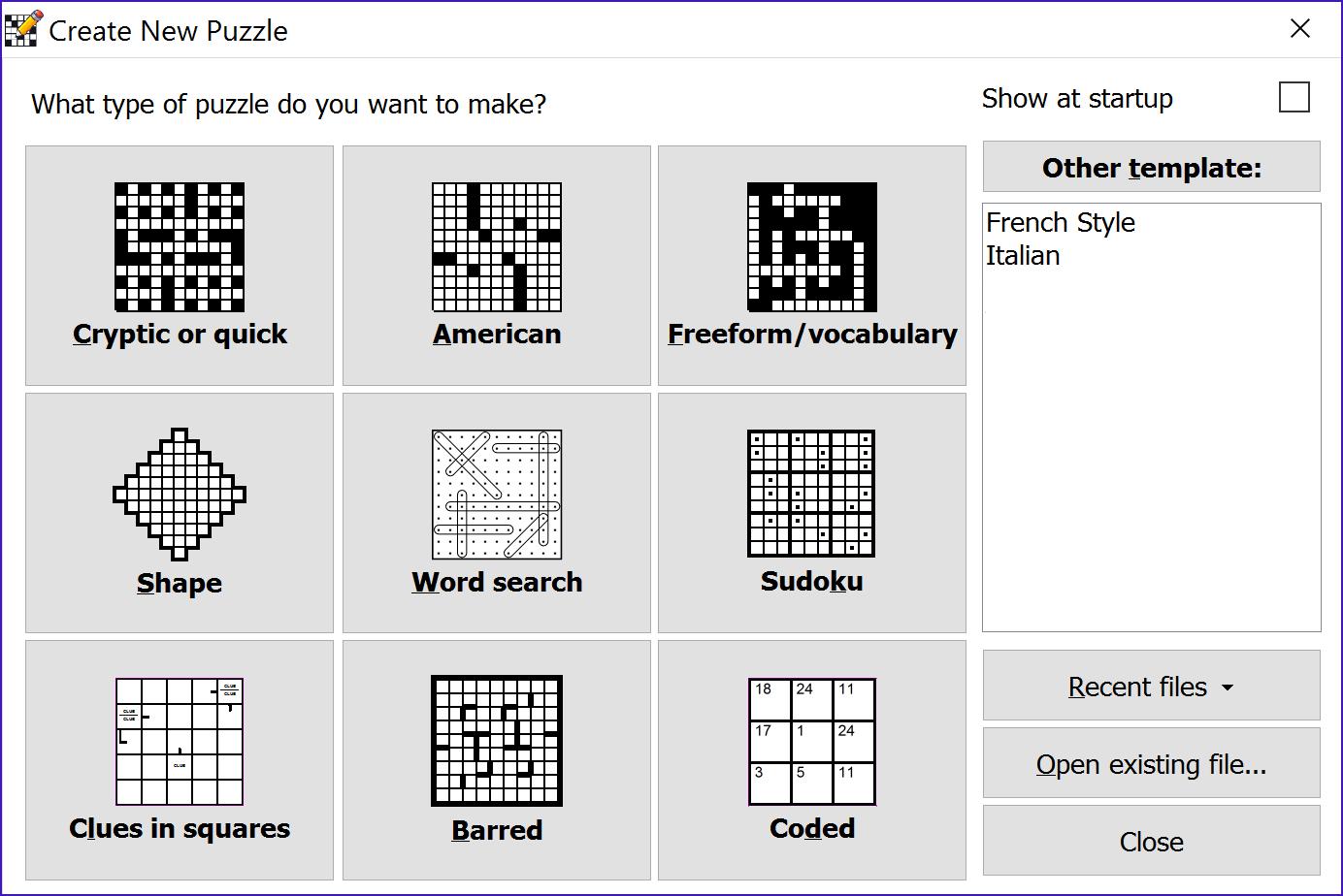 Crossword Compiler Features