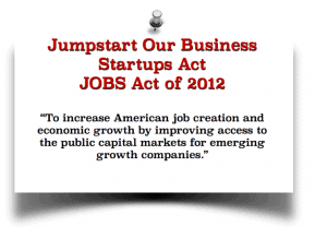 Jumpstart Our Business 2012 JOBS Act