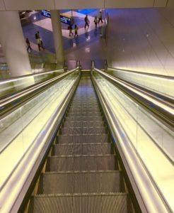 Escalator Airport Down Tunnel Decline