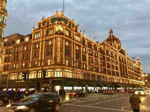 Harrods Shopping London England