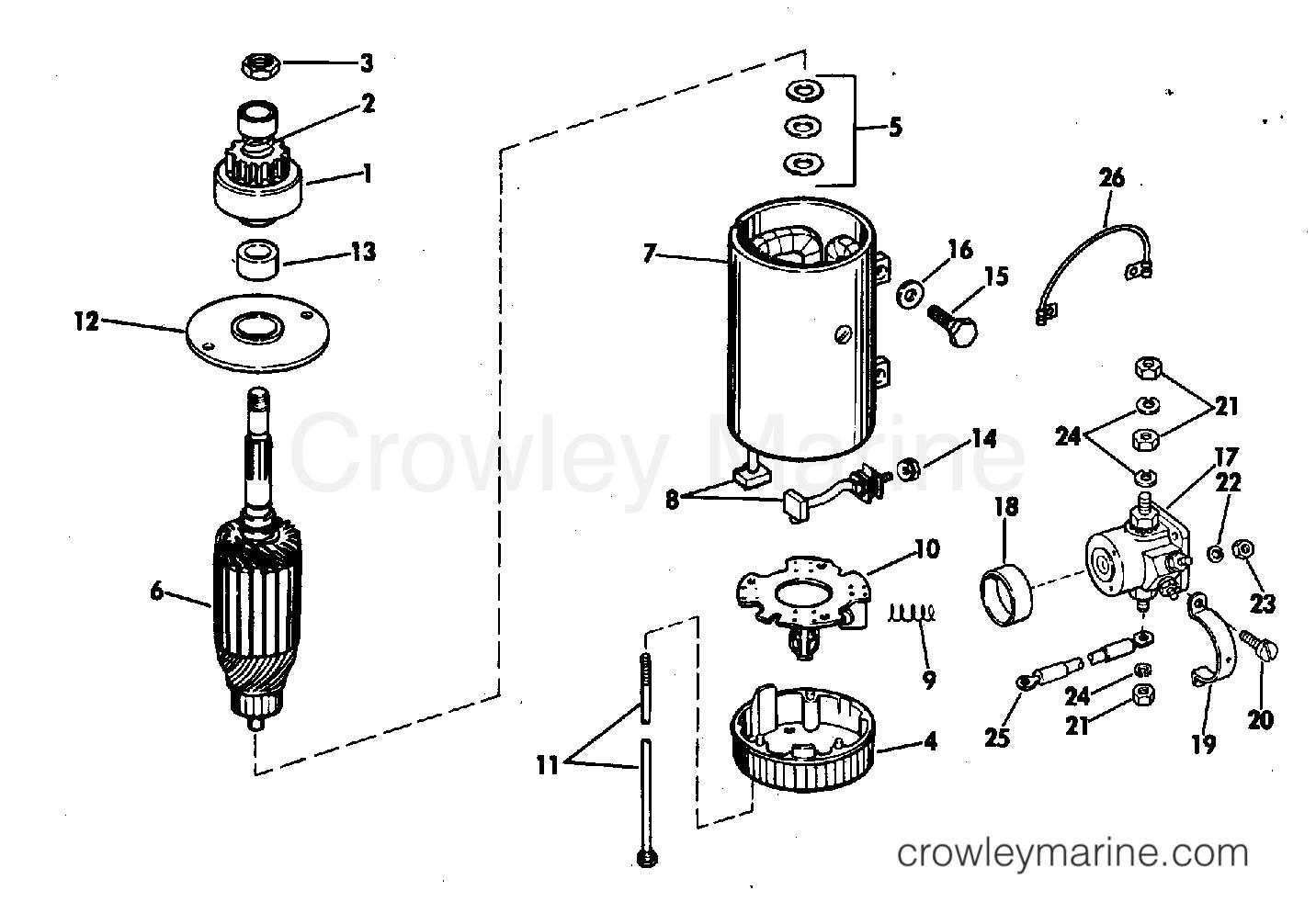 ELECTRIC STARTER & SOLENOID PRESTOLITE MODELS MGD-4110