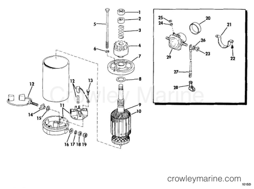 small resolution of 1978 1979 omc sail drive 1 5l 15s11c electric starter solenoid section