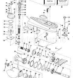 1980 johnson outboards 70 j70elcsa gearcase 20 transom section [ 1260 x 1566 Pixel ]