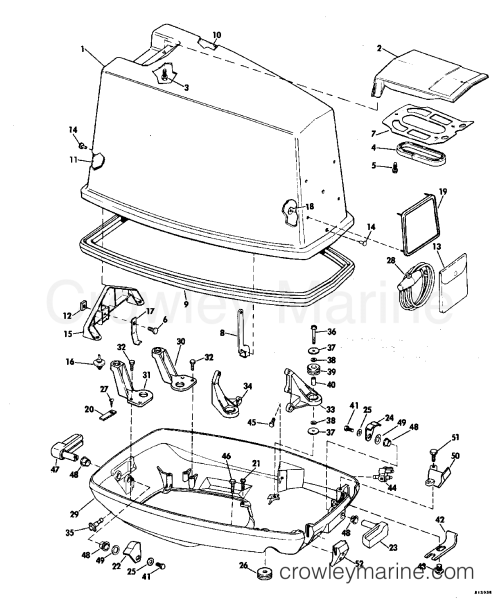small resolution of 1982 evinrude outboards 70 e70elcnb motor cover johnson section