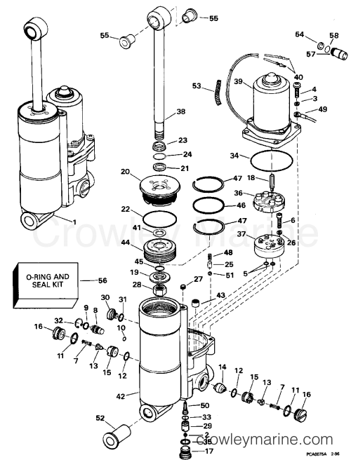 small resolution of power trim tilt 1996 evinrude outboards 40 be40eeds crowley marine rh crowleymarine com 2wire evinrude tilt diagram evinrude trim motor replacement