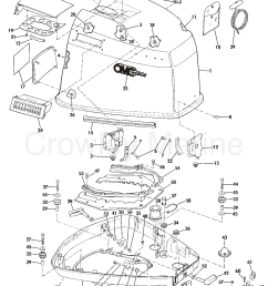 1983 omc sea drive 1 6l 2balctr engine cover section [ 1075 x 1359 Pixel ]