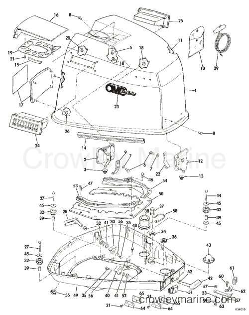 small resolution of 1983 omc sea drive 1 6l 2balctr engine cover section