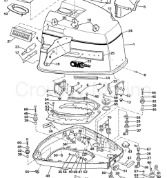1989 omc sea drive 1 6l mechanical 16amrarf engine cover section [ 1157 x 1467 Pixel ]