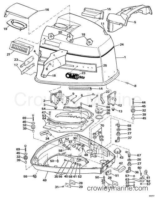 small resolution of 1989 omc sea drive 1 6l mechanical 16amrarf engine cover section
