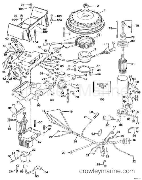 small resolution of wrg 9914 omc sea drive wiring diagramignition system u0026 starter motor 1989 omc sea