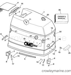 engine cover 1989 omc sea drive 4 0l 40bprarf crowley marine rh crowleymarine com omc engine manual omc motor diagram [ 1073 x 1017 Pixel ]